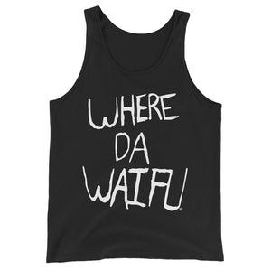 WHERE DA WAIFU Signature Tank Top