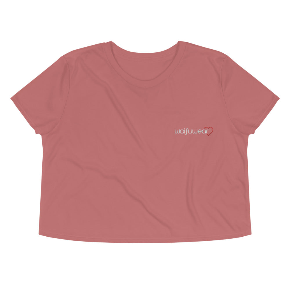 WAIFUWEAR Embroided Crop Tee
