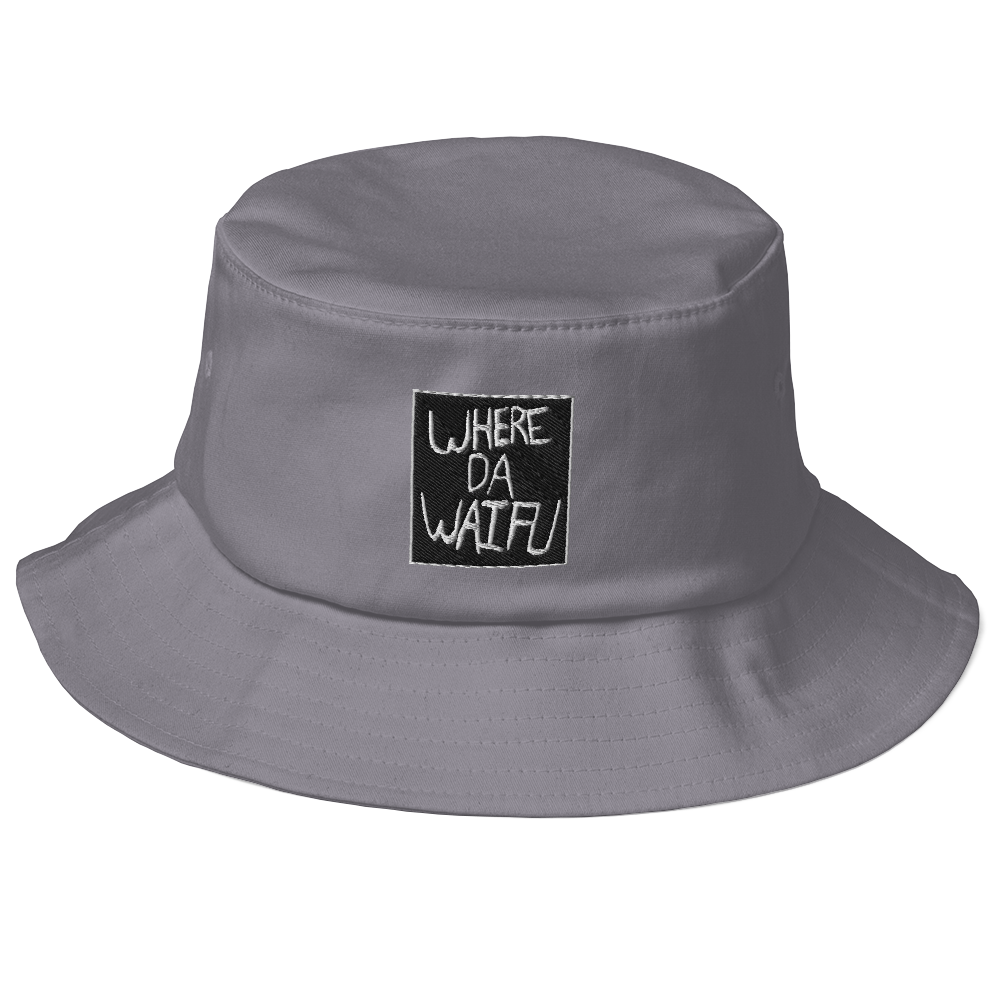 WHERE DA WAIFU BLOCC BOI BUCKET HAT, BLACK