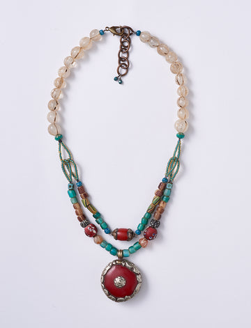 Red Double Necklace