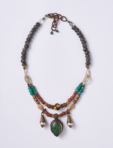 Double Tibet Pearl Necklace
