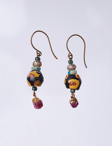 King Ruby Earrings