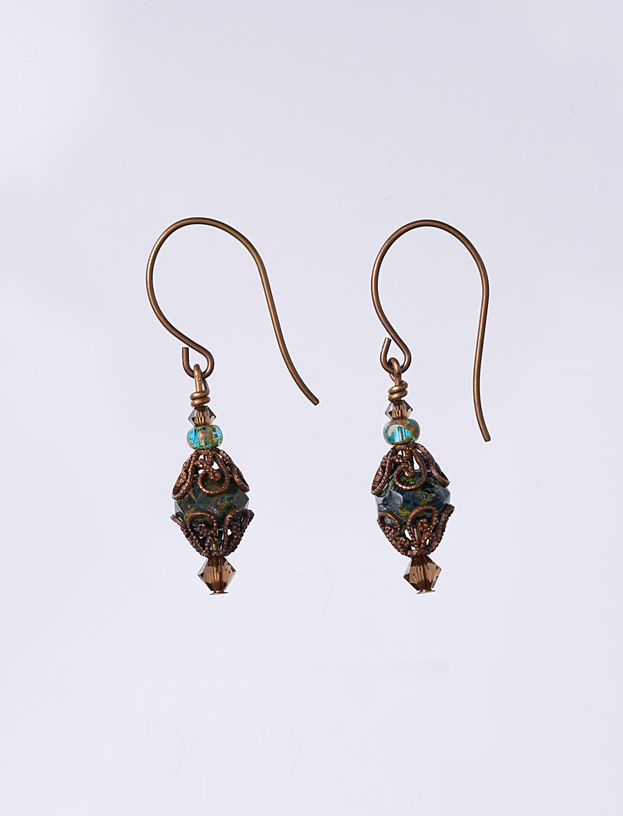 Czech Blue Earrings