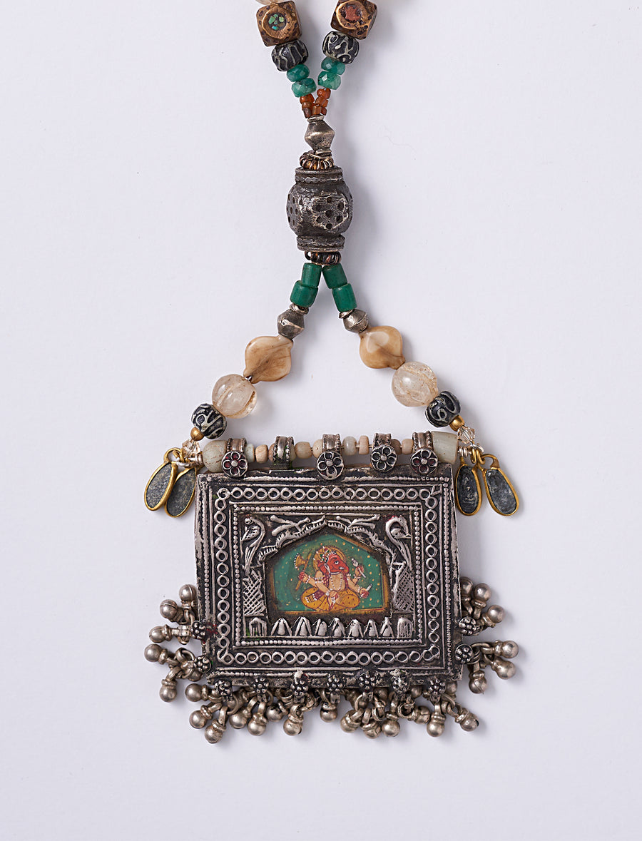 India Painting Necklace