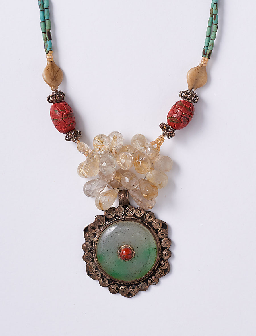 Jade Coral Necklace
