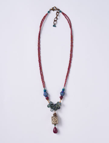 Moss Ruby Necklace