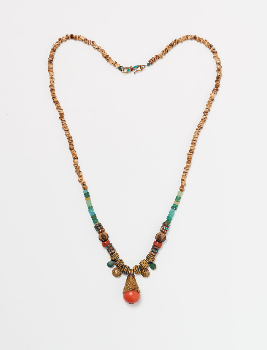 Orange Brown Long Necklace