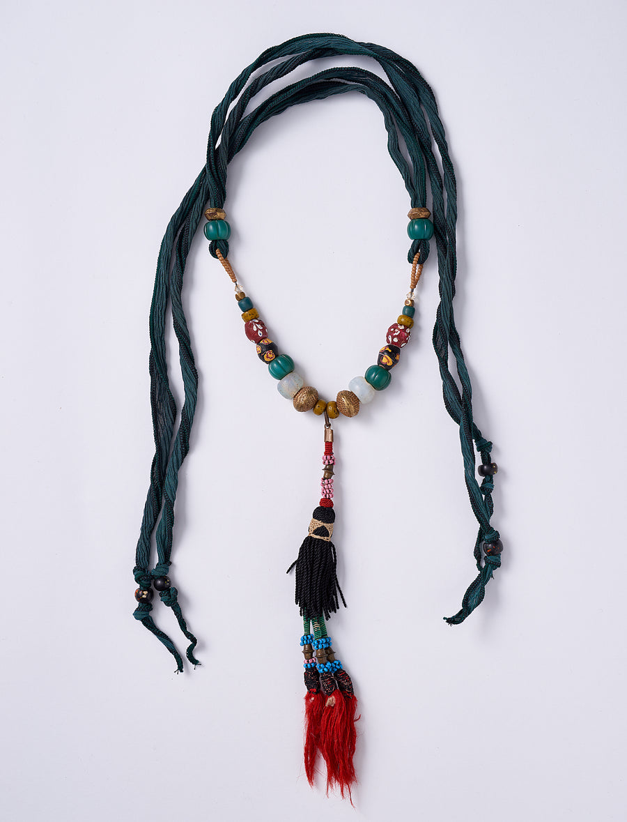 Single Tassel Silk Necklace