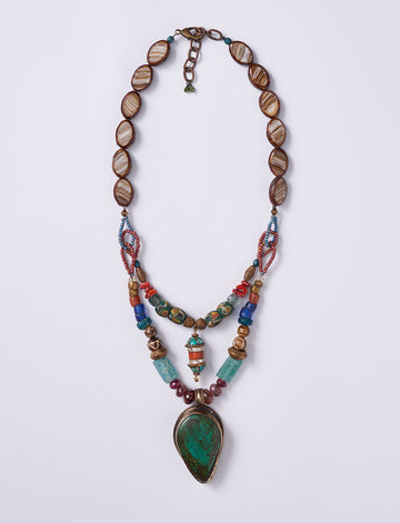 Vintage Double Tibet Necklace
