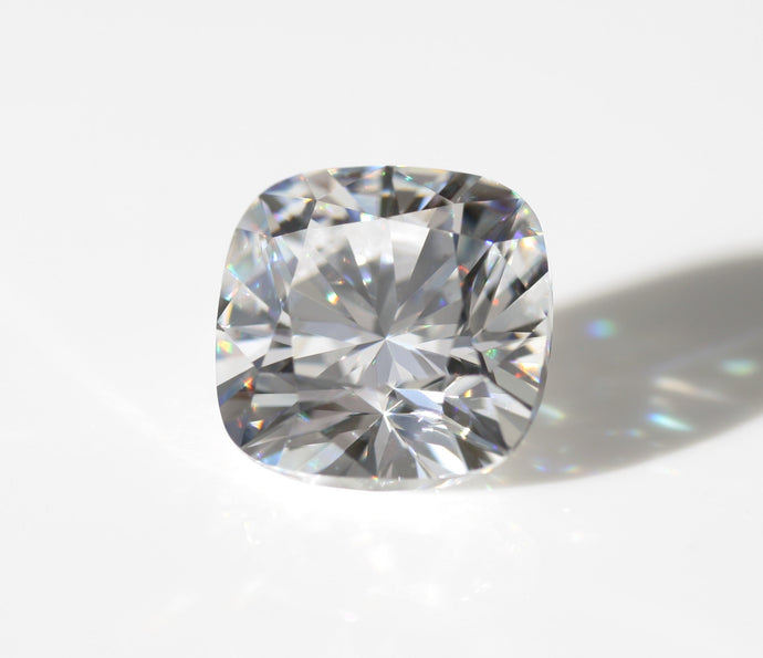 Infinity 2 Carat Cushion Ideal Cut Lab Grown 50% Pure Carbon Stone