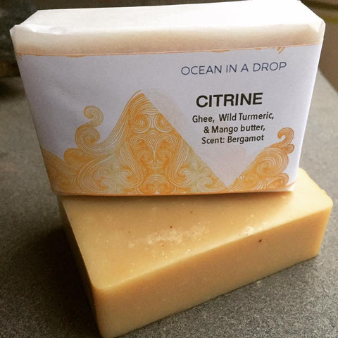 citrine natural soap