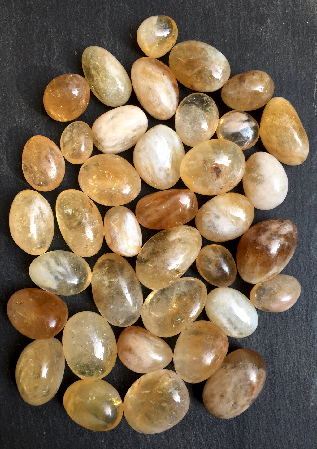 African Citrine tumbles