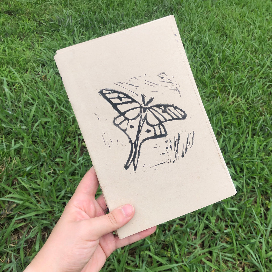 Moth Print Whimsy Notebook