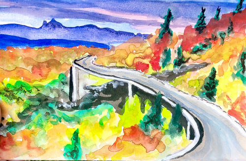 Blue ridge Watercolor