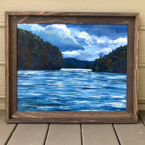 Leesville Lake Canvas Paper