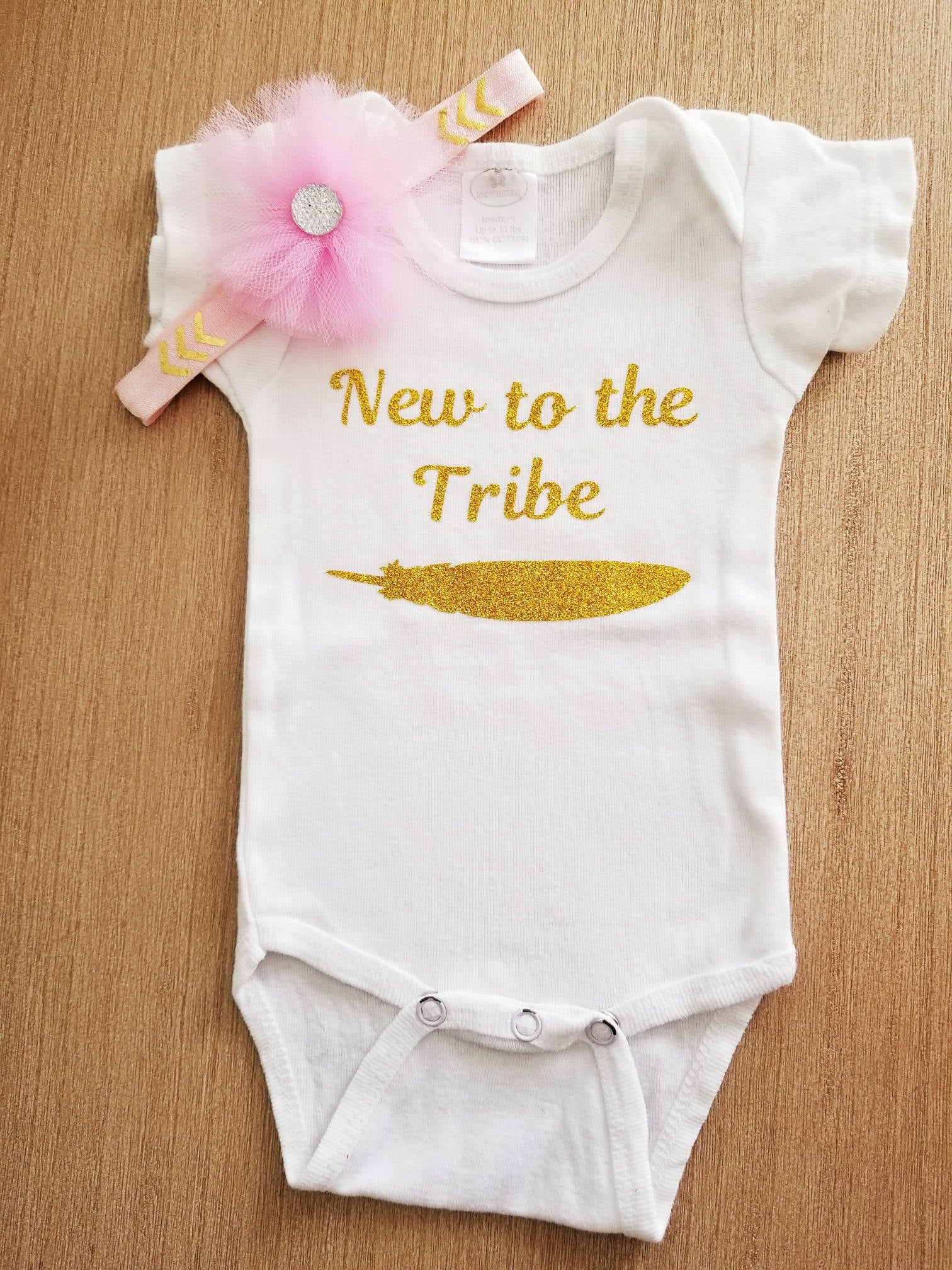 New To The Tribe Bodysuit Baby Girl Bodysuit New Baby Gift Baby