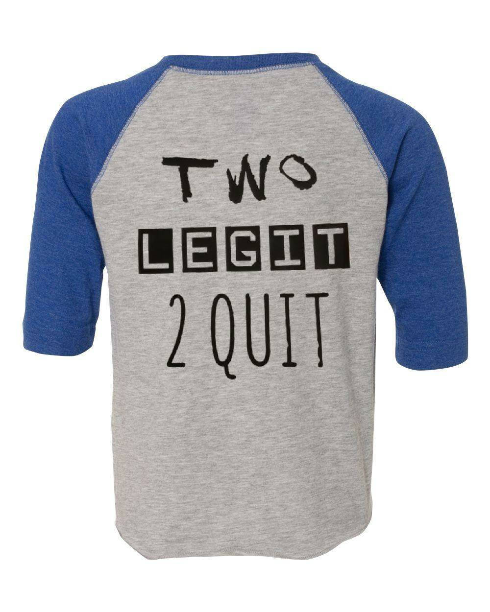 Two Year Old Birthday Boy Shirt Legit To Quit