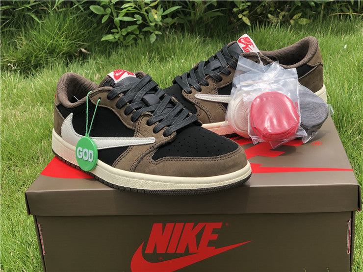 "Nike x Travis Scott Air Jordan 1 Low ""Brown"" - Hype Aparell"
