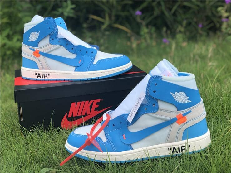 "Nike Jordan x Off White ""1 Retro High""  UNC Blue - Hype Aparell"