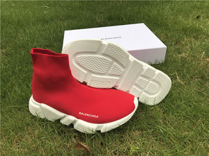 "Balenciaga ""Speed Trainer Knit"" Red/White - Hype Aparell"