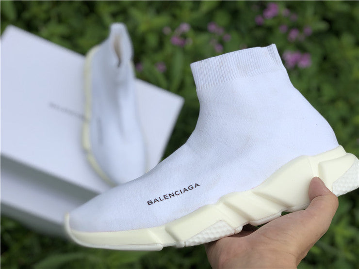 "Balenciaga ""Speed Trainer Knit"" Total White - Hype Aparell"