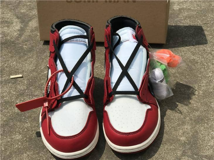 "Nike Jordan x Off White ""1 Retro High""  Chicago Red - Hype Aparell"