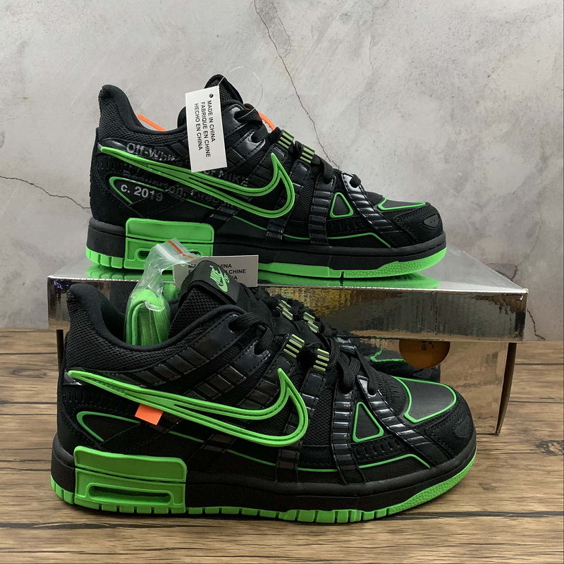 Nike x Off White Dunk Rubber Green Strike - Luxury Aparell