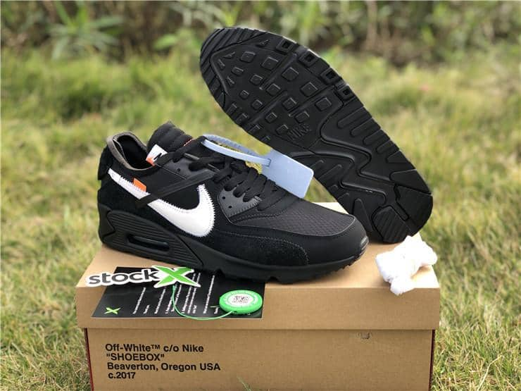 "Nike x Off White ""Air Max 90 Black"" - Hype Aparell"