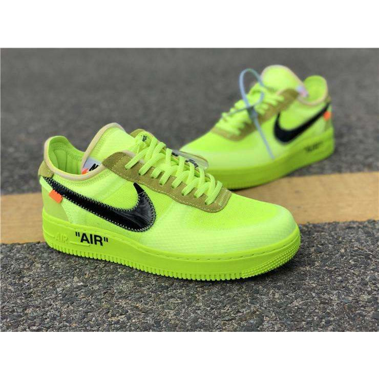 "Nike x Off-White ""Air Force 1"" VOLT - Hype Aparell"