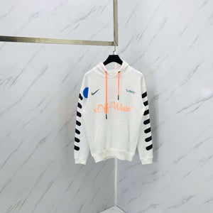 Off White SS18 x Nike Mercurial x Jersey White Hoodie - Hype Aparell