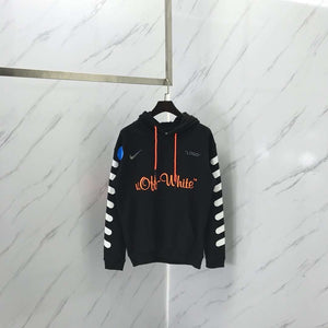 Off White SS18 x Nike Mercurial x Jersey White Hoodie BLACK - Hype Aparell