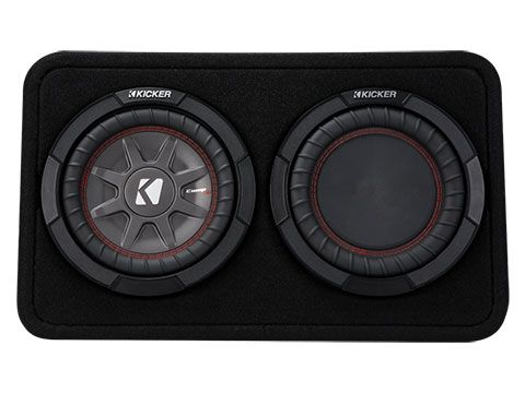 "KICKER 8"" COMPRT 2 Ohm 300W Sub Box"