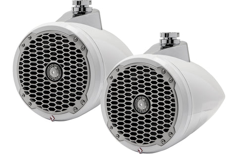 "Rockford Fosgate PM282W Punch Series 8"" wakeboard tower speakers (White)"