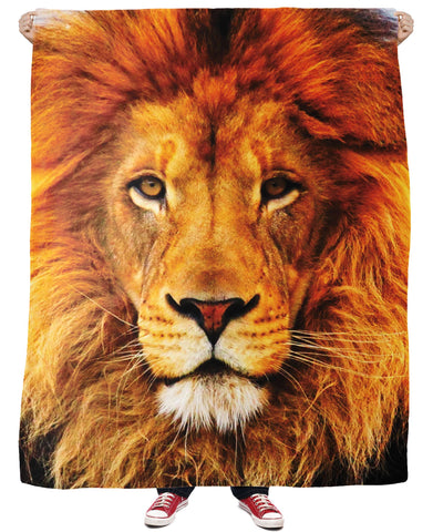Lion Fleece Blanket | LIVESWOLL