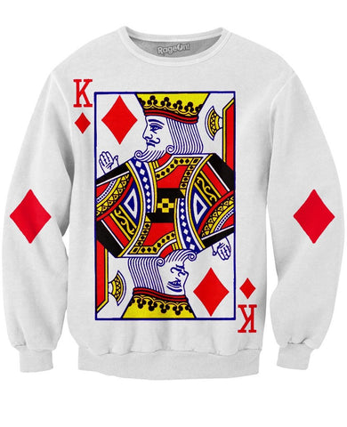 King of Diamonds Crewneck Sweatshirt | LIVESWOLL