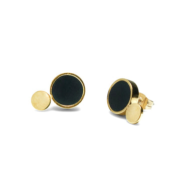 Luna - Golden Petite Earrings