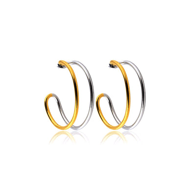Two Tone Hoops