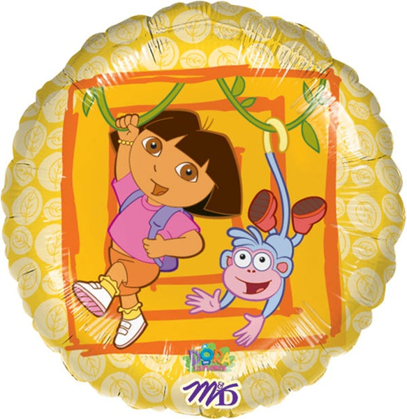 Dora and Boots Foil Balloon