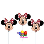Red Minnie Mouse Air Filled Balloons