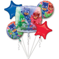 PJ Masks Birthday Balloons Bouquet 5pc