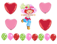 Classic Strawberry Shortcake Birthday Balloons 14pc
