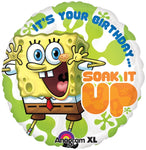 SpongeBob Soak It Up Birthday Balloon
