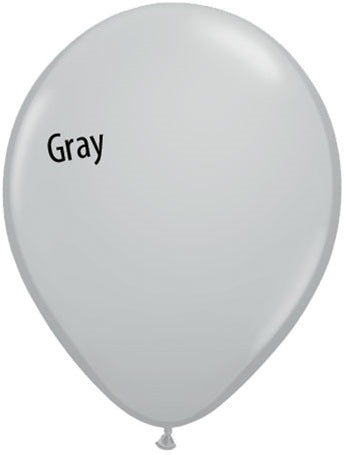 5in Gray Latex Balloons