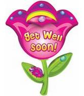 Flowers Get Well Soon Balloon