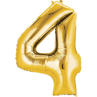 Giant Gold Number 4 Balloon