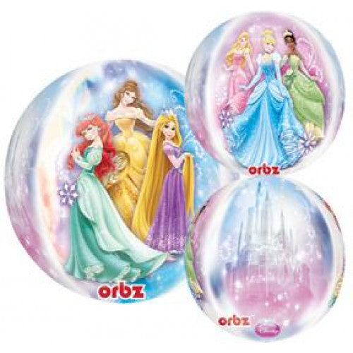 Disney Princess See Thru Orbz Birthday Balloon