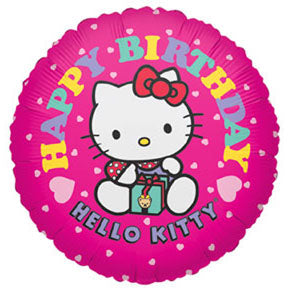 Hello Kitty Pink Present Birthday Balloon