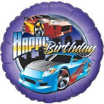 Hot Wheels Happy Birthday Balloon