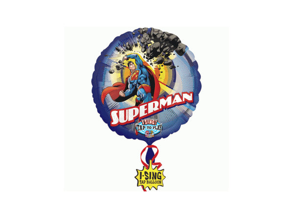 Superman Singing Birthday Balloon