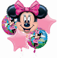 Disney Minnie Mouse Balloon Birthday Bouquet 5pc